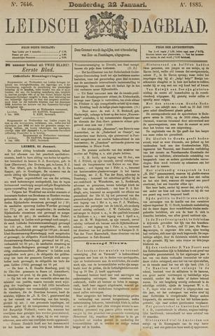 Leidsch Dagblad 1885-01-22