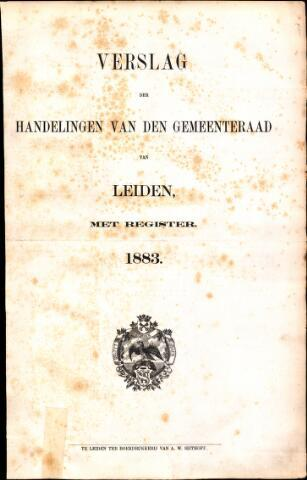 Handelingen van de Raad 1883-01-01
