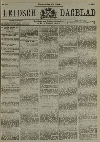 Leidsch Dagblad 1909-06-10