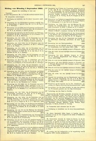 Handelingen van de Raad 1931-09-01