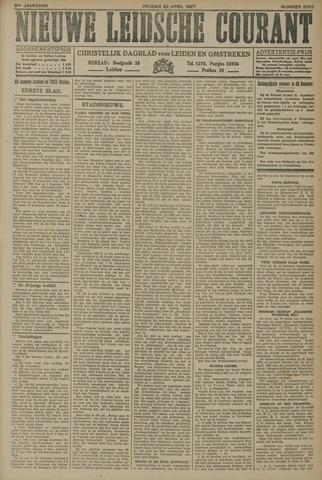 Nieuwe Leidsche Courant 1927-04-22