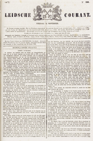 Leydse Courant 1873-11-14
