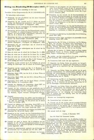 Handelingen van de Raad 1917-12-20