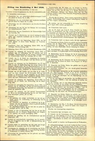 Handelingen van de Raad 1916-05-04