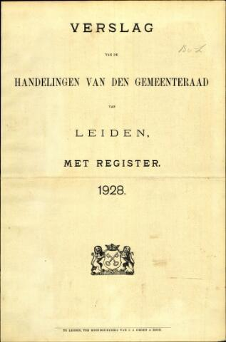 Handelingen van de Raad 1928-01-01