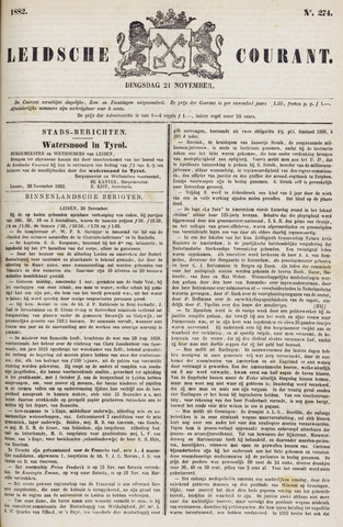 Leydse Courant 1882-11-21