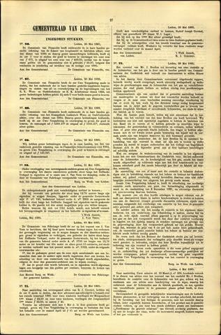 Handelingen van de Raad 1885-05-20