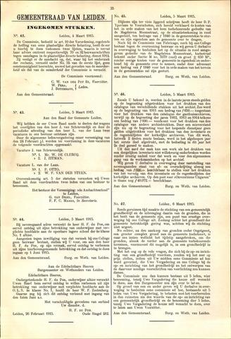 Handelingen van de Raad 1915-03-04
