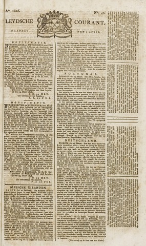 Leydse Courant 1826-04-03