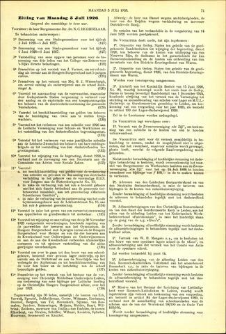 Handelingen van de Raad 1926-07-05