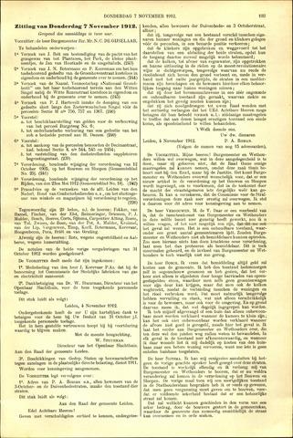 Handelingen van de Raad 1912-11-07