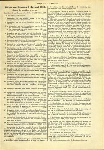 Handelingen van de Raad 1922-01-02