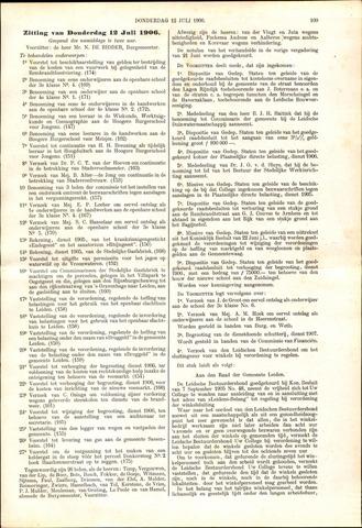 Handelingen van de Raad 1906-07-12