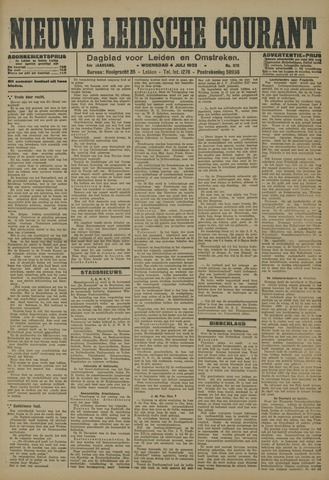 Nieuwe Leidsche Courant 1923-07-04