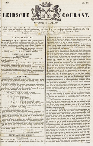 Leydse Courant 1871-01-21