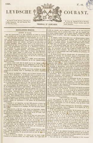 Leydse Courant 1860-01-27