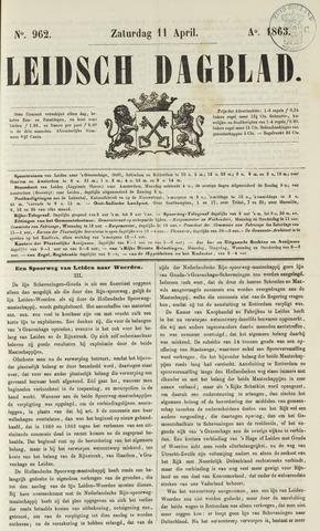 Leidsch Dagblad 1863-04-11