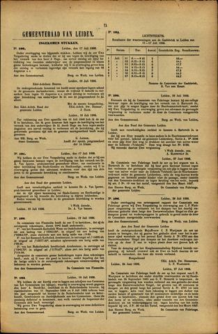 Handelingen van de Raad 1886-07-17