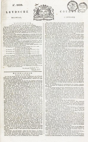 Leydse Courant 1839-01-07