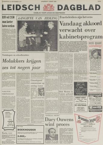 Leidsch Dagblad 1977-09-22