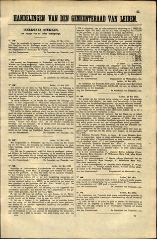 Handelingen van de Raad 1873-05-23