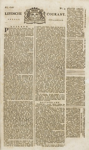 Leydse Courant 1826-01-20