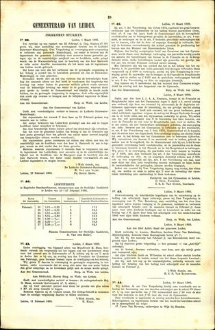 Handelingen van de Raad 1886-03-01