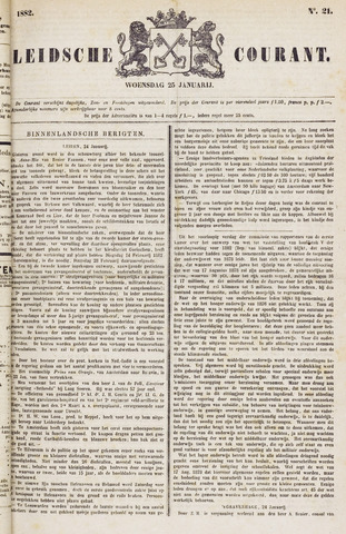 Leydse Courant 1882-01-25