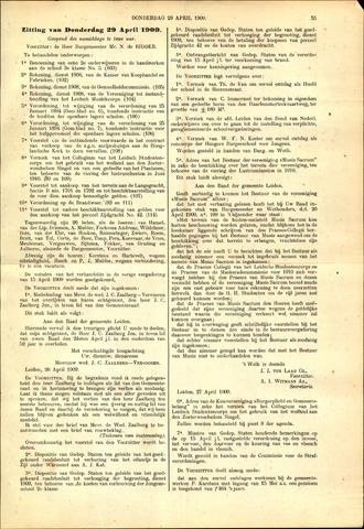 Handelingen van de Raad 1909-04-29