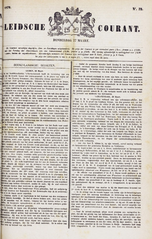 Leydse Courant 1879-03-27