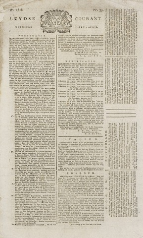 Leydse Courant 1818-04-01