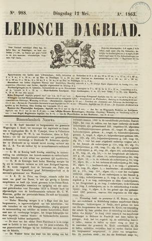 Leidsch Dagblad 1863-05-12
