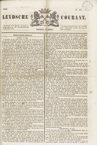Leydse Courant 1862-04-18