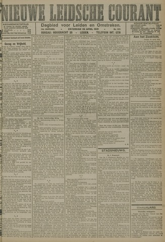 Nieuwe Leidsche Courant 1921-04-23