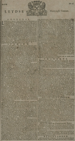 Leydse Courant 1729-02-28