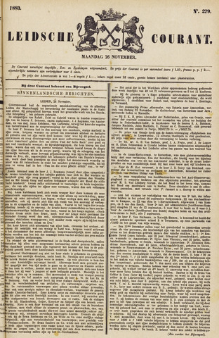 Leydse Courant 1883-11-26