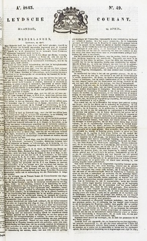 Leydse Courant 1843-04-24