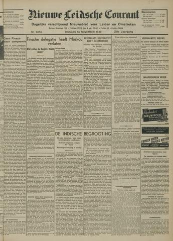 Nieuwe Leidsche Courant 1939-11-14