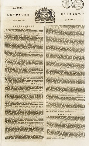 Leydse Courant 1841-03-31