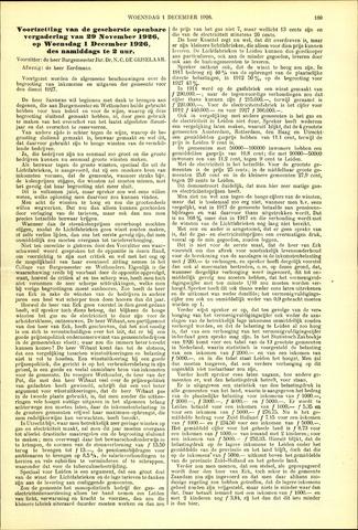 Handelingen van de Raad 1926-12-01
