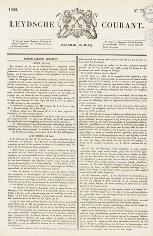 Leydse Courant 1852-06-28