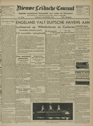 Nieuwe Leidsche Courant 1939-09-05