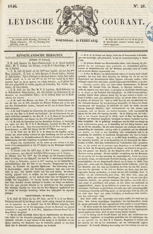 Leydse Courant 1846-02-18