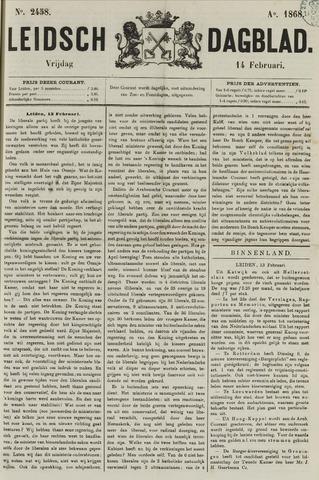 Leidsch Dagblad 1868-02-14