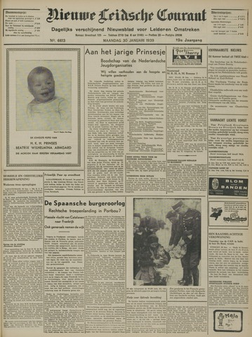 Nieuwe Leidsche Courant 1939-01-30