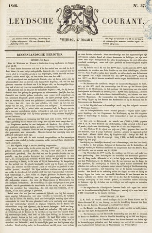 Leydse Courant 1846-03-27