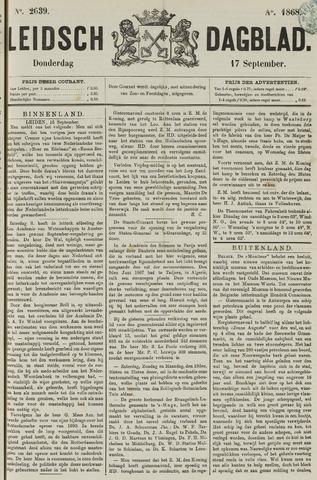 Leidsch Dagblad 1868-09-17