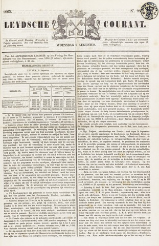 Leydse Courant 1865-08-09