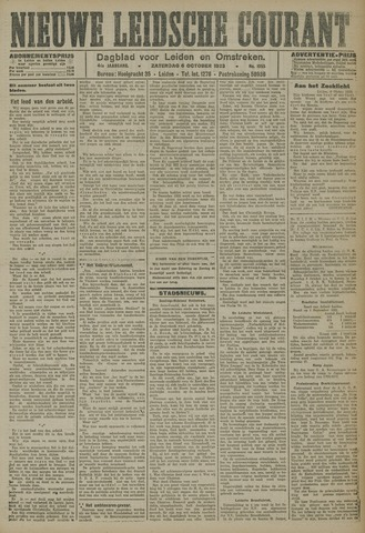 Nieuwe Leidsche Courant 1923-10-06