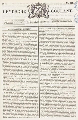 Leydse Courant 1846-11-25